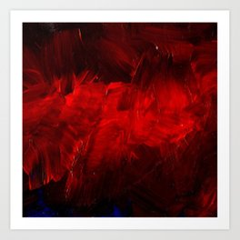 Red And Black Luxury Abstract Gothic Glam Chic by Corbin Henry Kunstdrucke