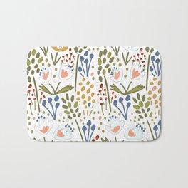 Flowery fields Bath Mat