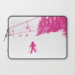 Little Skier - Pink Laptop Sleeve