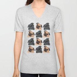 Pug Pattern Unisex V-Neck