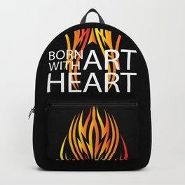 Text Art Heart Backpack
