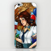 bioshock infinite iPhone & iPod Skins featuring BioShock Infinite by Little Lost Forest