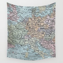 old map of Europe Wall Tapestry