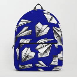 Paper airplane pattern Backpack