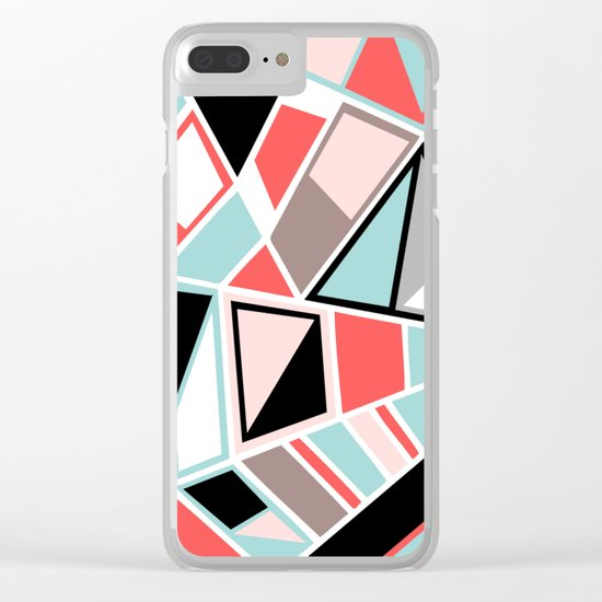 Abstract #534 Facets Clear iPhone Case