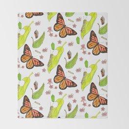 Monarch Migration Throw Blanket