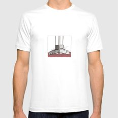 in my shoes MEDIUM White Mens Fitted Tee
