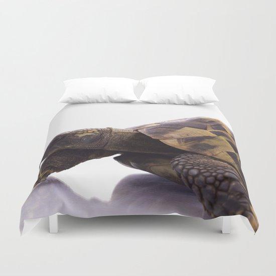 Greek land tortoise Duvet Cover