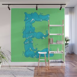 E is for Elephant Wall Mural
