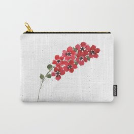 Red Floral Watercolor Carry-All Pouch