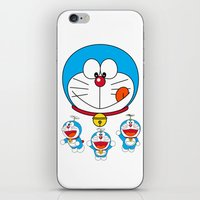 doraemon iPhone & iPod Skins featuring Dora Flaying Together  by Timeless-Id