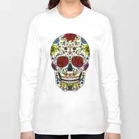 sugar skull Long Sleeve T-shirts featuring Sugar Skull by Jade Boylan