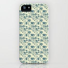 Native Flora On Ecru Pattern iPhone Case