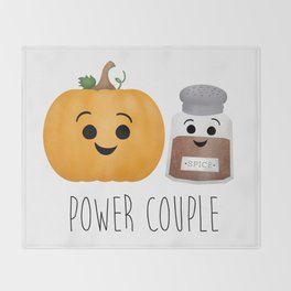 Pumpkin + Spice = Power Couple Throw Blanket