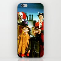 pennywise iPhone & iPod Skins featuring PENNYWISE IN MARY POPPINS by Luigi Tarini