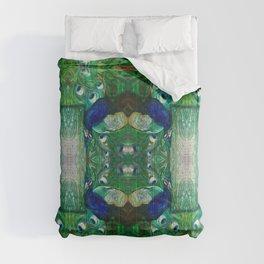 Peacock Tiles Comforters