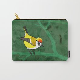 Firecrest (Regulus ignicapillus) Carry-All Pouch
