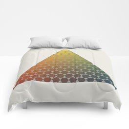 Lichtenberg-Mayer Colour Triangle vintage remake, based on Mayers' original idea and illustration Comforters