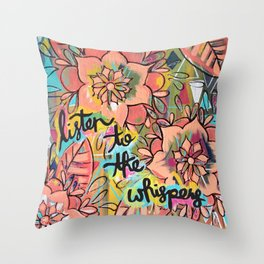 Listen to the Whispers Throw Pillow