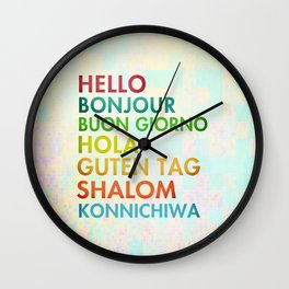 Multi Cultural Wall Clock