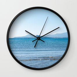 Blue sea in the Bay of Naples Wall Clock