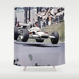 Nordschleife Formula 1 Jump Shower Curtain