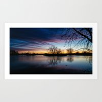 arsenal Art Prints featuring Rocky Mountain Arsenal Sunrise by Denny Armstrong