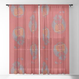 Stitches: Electric ray Sheer Curtain