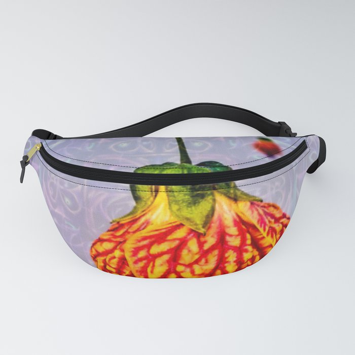 Stained glass and flower pendant Fanny Pack