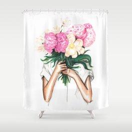 Spring | Botanical Illustration Shower Curtain