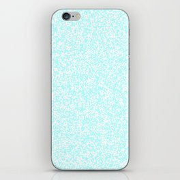 Tiny Spots - White and Celeste Cyan iPhone Skin