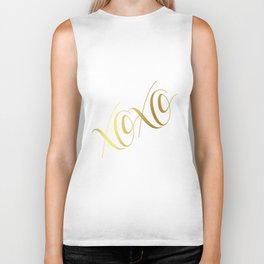 XOXO Gold Foil Print - Love Quote Print - Positive Quote - Lettered Print - Positive Biker Tank