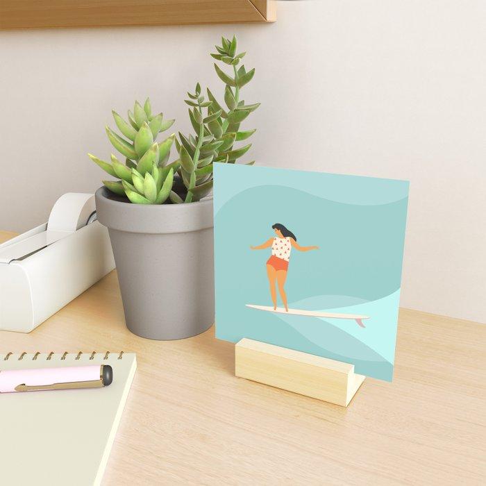 Surf girl Mini Art Print