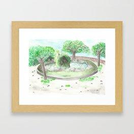 Italian park Framed Art Print