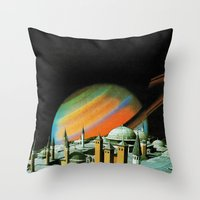 religion Throw Pillows featuring The religion  by Hugo Barros