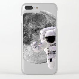Flying To The Moon Clear iPhone Case