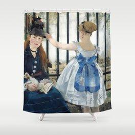 Edouard Manet - Le Chemin de fer (The Railroad) Shower Curtain