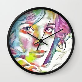 Rachel McAdams (Creative Illustration Art) Wall Clock