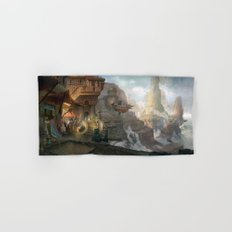 canyon city in the clouds Hand & Bath Towel