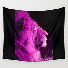 Pretty Kitty in Purple Wall Tapestry