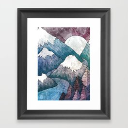 A cold river canyon Framed Art Print