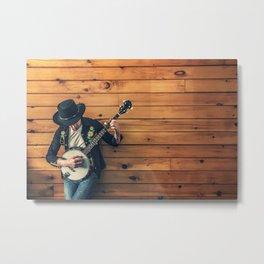 Banjo Player Metal Print