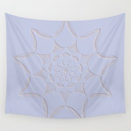 Dot Mandala Light Purple - 3D Pointilism Wall Tapestry