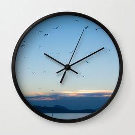 Birds Croatie Lokrum Wall Clock