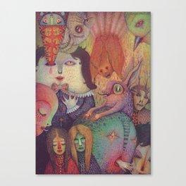 Secret Gathering Canvas Print