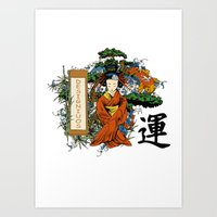 Japan Woman Art Print