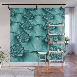 Teal Shimmer #2 Wall Mural
