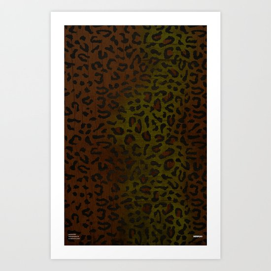 Modern Woodgrain Camouflage / Zaire KDP Print Art Print