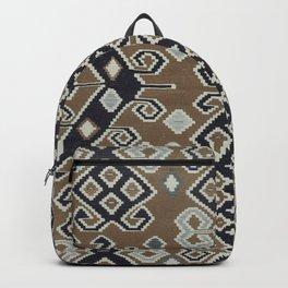 vintage Kilim Rug | Ethnic Style Tan Backpack