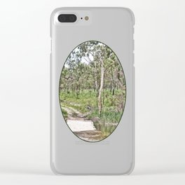 Rustic water crossing Clear iPhone Case